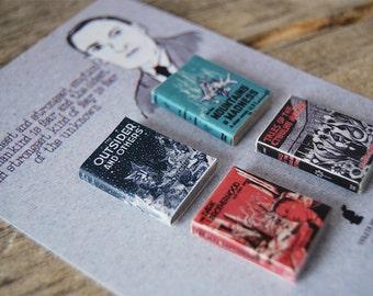 H. P. Lovecraft's  miniature book magnets set