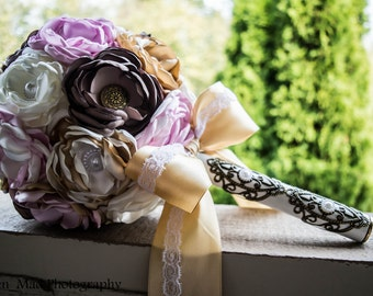 SALE!!! Shabby Chic Fabric Flower Bouquet