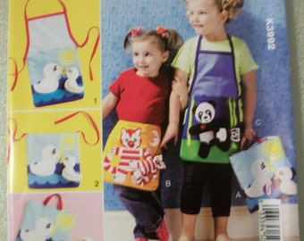 Kwik Sew K3992 Children's Apron/Tote and Toy