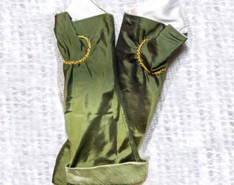 18th Century Ladies Colonial Silk Mitts  Size 7  -  004