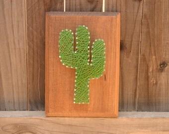 Mini Saguaro String Art