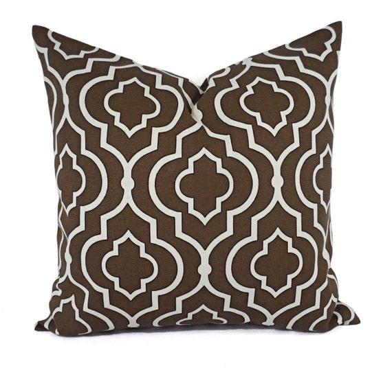 Throw Pillows Cream : Two Decorative Pillow Covers Brown Cream Pillows Throw