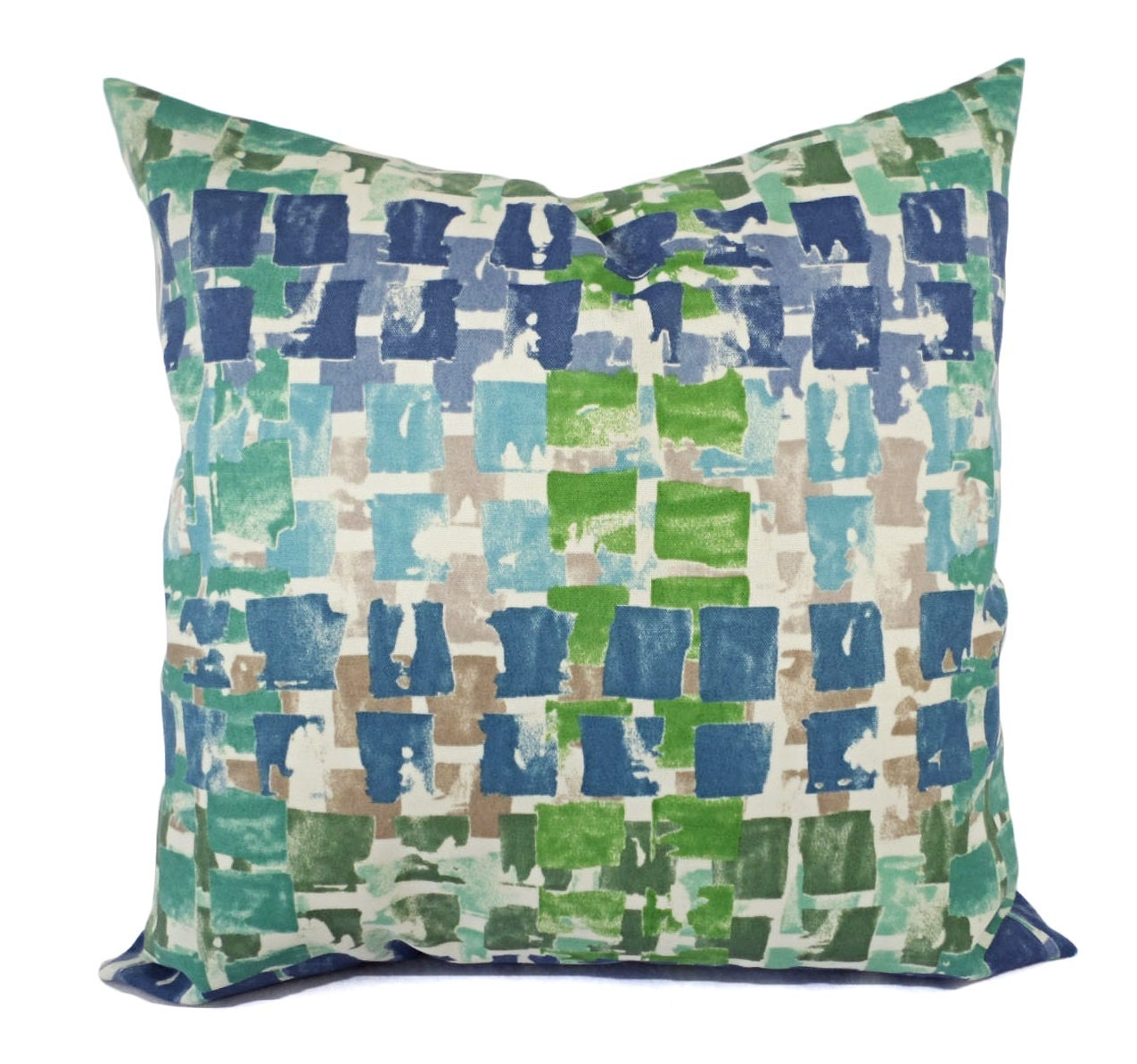 Two Outdoor Pillow Covers Blue And Green By Castawaycovedecor