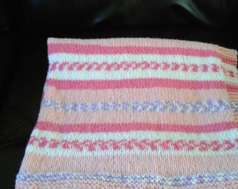 Baby blanket made with 100% Acrylic yarn.
