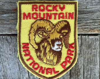 Rocky Mountain National Park Colorado Vintage Souvenir Travel Patch