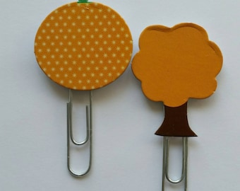Fall Pumpkin and Tree Paperclip set