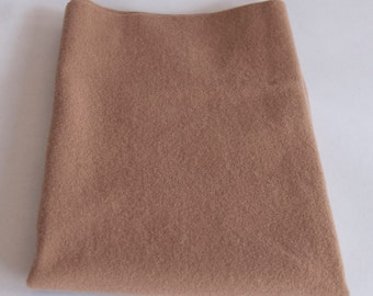 Felted Wool Fabric, Fat Quarter, Tan Solid