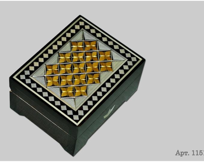Jewelry box. Casket from Russia. Original gift. #С 1151-32. #95