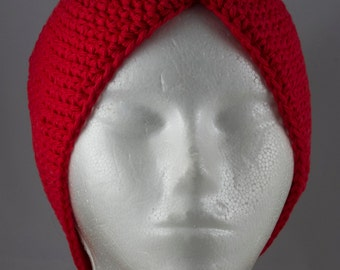 Red Turban Hat for Cancer Patients
