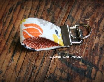 Mini Fabric Key Fob; Mini Fabric Keychain; Finger Fob