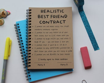 Best friend contract 5 x 7 journal realistic best friend contract 5 x 7 journal thecheapjerseys Choice Image