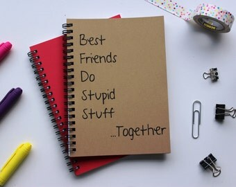 Best friends do stupid stuff together -  5 x 7 journal