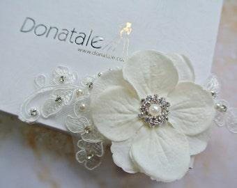 Bridal Headpiece,Bridal Hair Flower,Ivoryl Hair Clip, Wedding  Headpiece,Ivory Hair Flower, Wedding hair flower