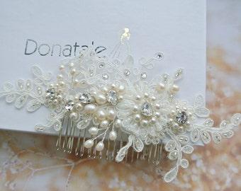 Wedding Head Piece with pearls - Bridal Headpiece - Wedding Headpiece - Bridal Head piece - Bridal Hair Accessories- ELIANE