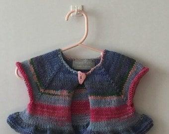 Girl's Striped Bolero Vest