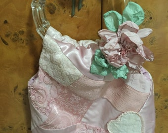 Vintage Handmade Dusty Pink Rockabilly Purse