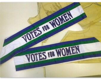 Vintage Suffragette Costume / Banner / Sash 'Votes For Women' Edwardian Costume