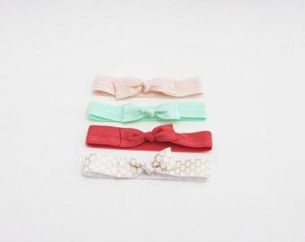 Ribbon Hair Ties - Set of 4 - Hair Ties - Signature Rose Collection