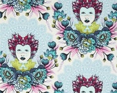 SALE Tula Pink fabric ELIZABETH - 16th Century Selfie in Sky for Free Spirit Fabrics Westminster - HALF Yard