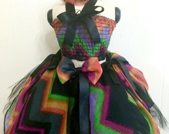 CLEARANCE Chevron StripesTutu Perfect for Halloween, pageant, outfit of choice, pageant wear, photo shootordress up fun
