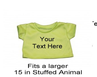 Personalized Green Teddy Tee Shirt