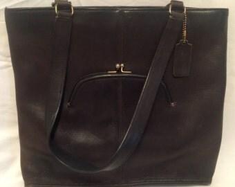 Vintage 1970's Bonnie Cashin for Coach Leather Bag, Vintage Coach NYC, Coach Watermelon Tote, Pre- Serial # Coach
