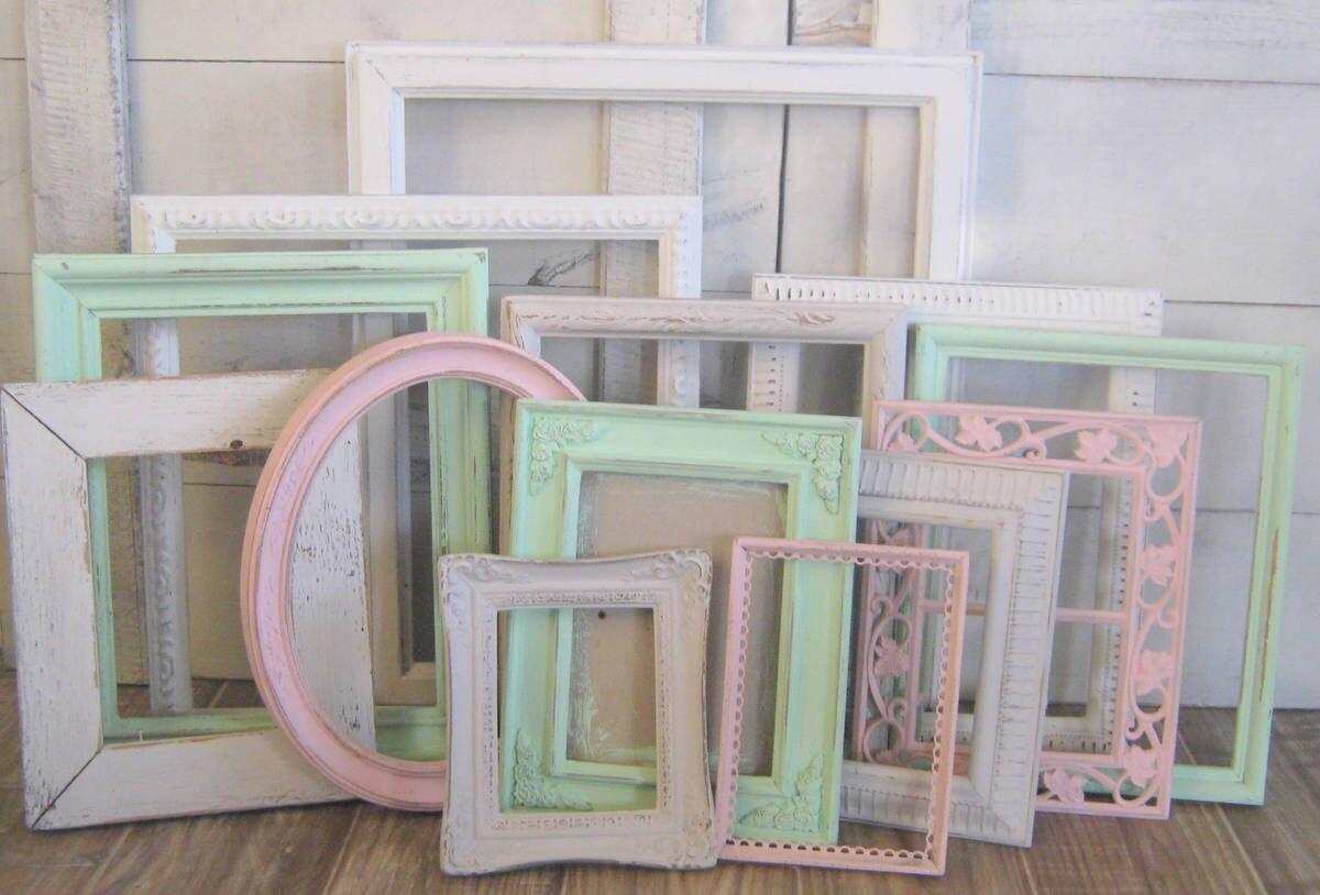 Girls Nursery Decor Shabby Chic Frames