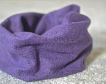 HEAVY Baby scarf, Toddler Scarf, Infant Scarf Infinity Scarf, Herringbone Scarf, Infinity Scarf, Infant/Toddler Scarf, Purple Scarf