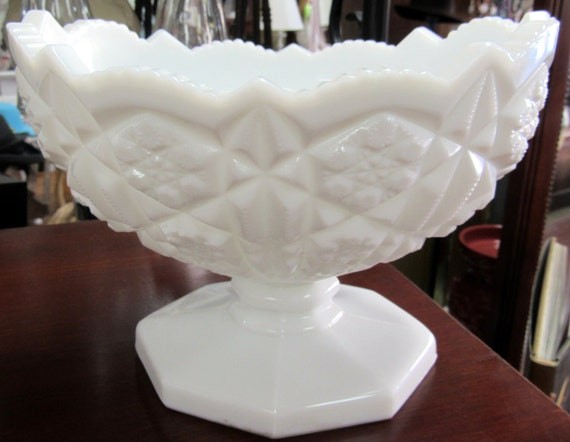 Milk Glass Bowl or compote dish