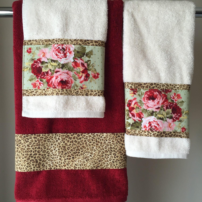 Red leopard bathroom set - Like This Item