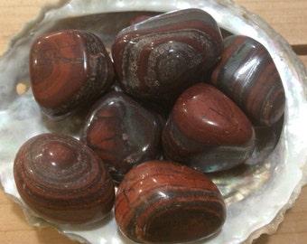 Tiger Iron Tumbled Stone, Healing Stone, Healing Crystal, Chakra Stone, Spiritual Stone
