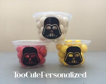 25 Darth Vader Snack Cups-4 oz.