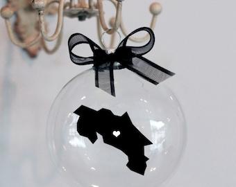 Costa Rica Love Christmas Ornament.  Custom, Adoption, Travel, Mission