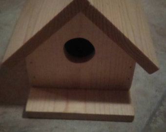 Large pine bird house