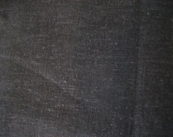 "1 1/4 Yds @ 60"" wide black cotton light-weight linen."