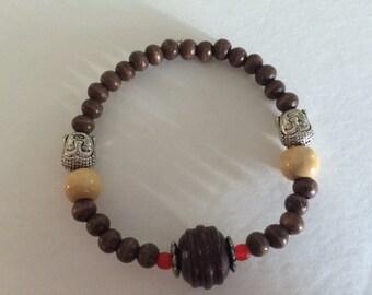 Wood Bead Eastern Inspired Bracelet