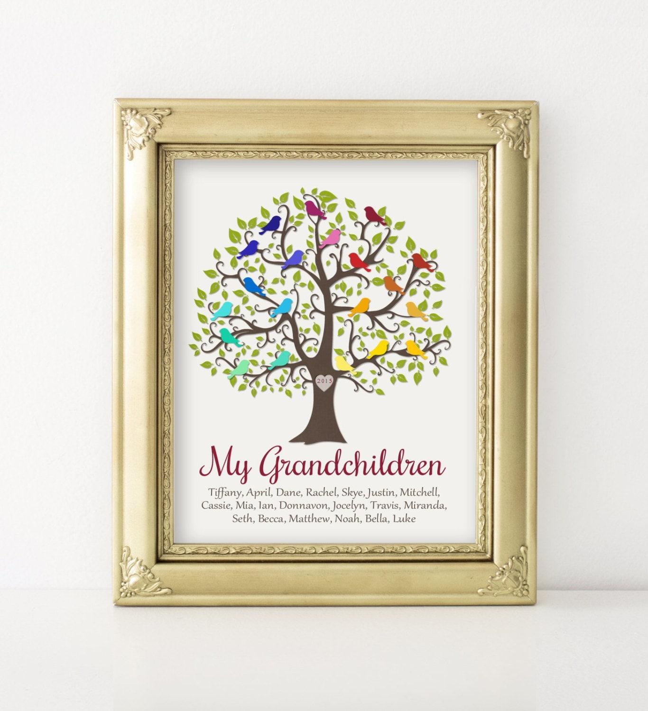 Grandparent Gift My Grandchildren Personalized Gift Family