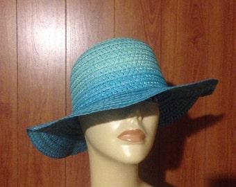 Turquoise Fun Floppy Sun Hat