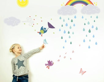 Wall Decals, Rainbow Wall Decal, Wall Stickers, Wall Graphics, Childrens Wall Art