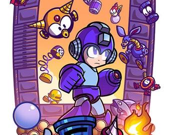 Epic Game Prints - Mega Man II! 11x17 inch print