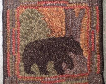 Rug Hooking Pattern On Monks Cloth Or Primitive Linen Four