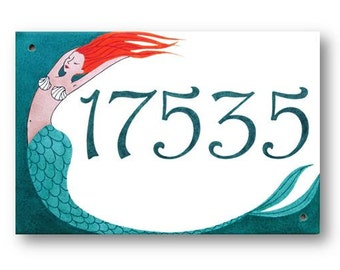 Beach House sign, Beach House numbers, Personalized beach sign