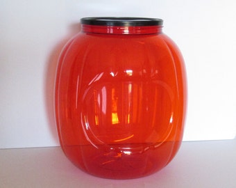 Large Plastic Pumpkin Container for repurposing