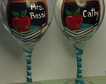 Teacher Wine Glass  personalized