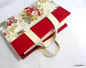 Promo Price. A book bag / fabric book cover with handles - fast and easy techniques ! Only USD 1.00 !