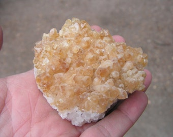 Citrine Crystal cluster, gemstone, natural rock, new age, metaphysical, wicca, supply, magic, #2