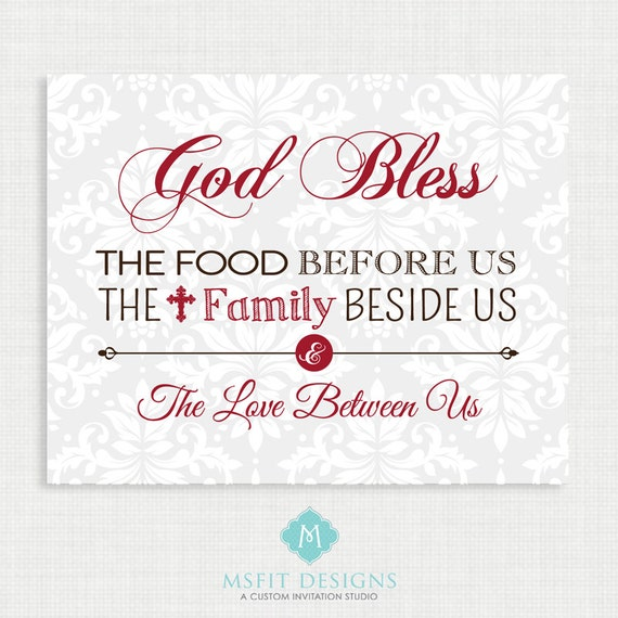 Home Wall Decor- God Bless Our Home - Family art print poster - Wall art