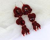 Soutache wedding earrings for Emma
