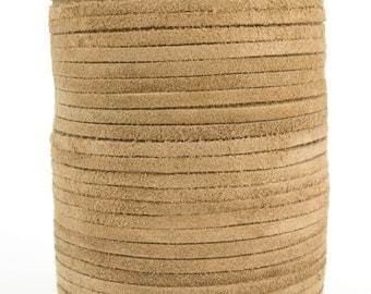 Natural Suede Leather Cord 3mm 10 Feet