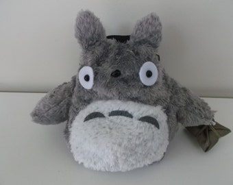 Totoro Rock Climbing Chalk Bag made from a child's plush toy